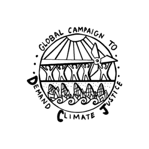 Logo of the Global Campaign to Demand Climate Justice.