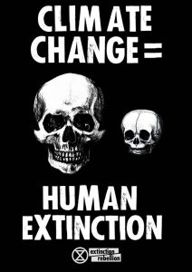 Poster: Climate change = Human extinction