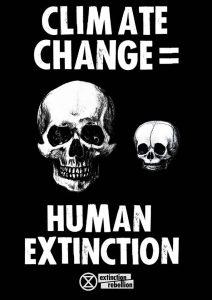 Poster: Climate change = Human extinction