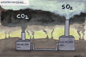 Image of geoengineering solution.