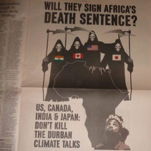Newspaper campaign ad: Will they sign Africa's death sentence?