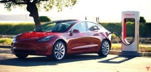 Image of Tesla electric car charging